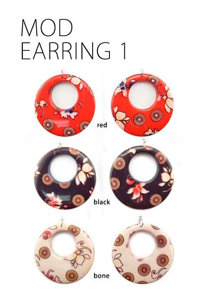 Retro Mod Girl Earrings