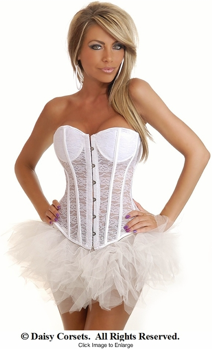Romantic Bride Lace Corset and Pettiskirt