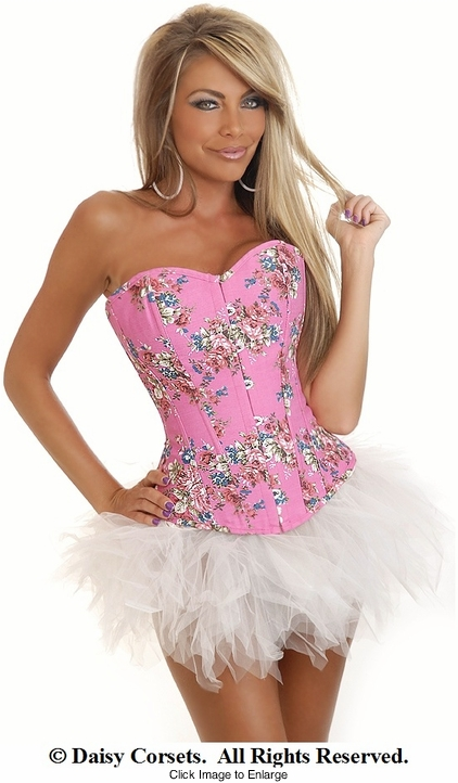 Pink Country Rose Corset and Pettiskirt
