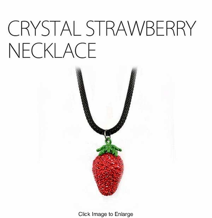 Supreme Crystal Strawberry Necklace