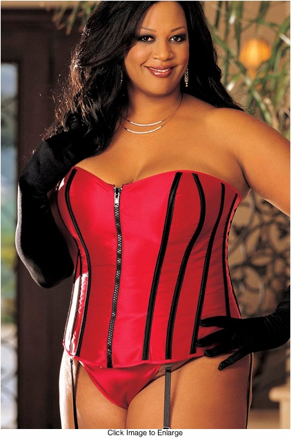 ***SALE Plus Size Red Strapless Corset