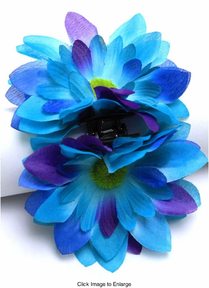 "4"" Daisy Flower Jaw Hair Clip (available in 6 colors)"