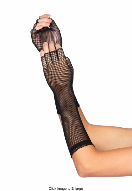 Micro Net Fingerless Gloves