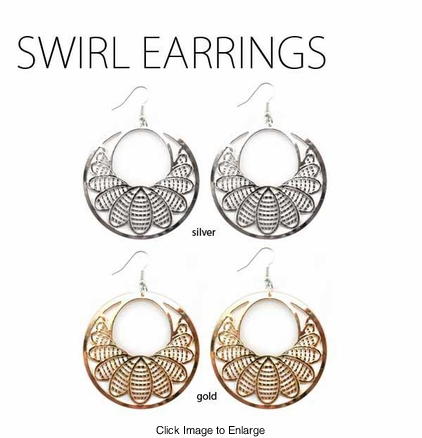 Swirl Circle Earrings