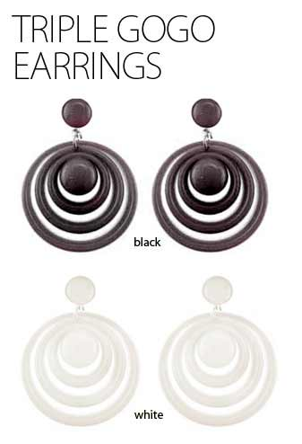 Triple Circle Gogo Earrings