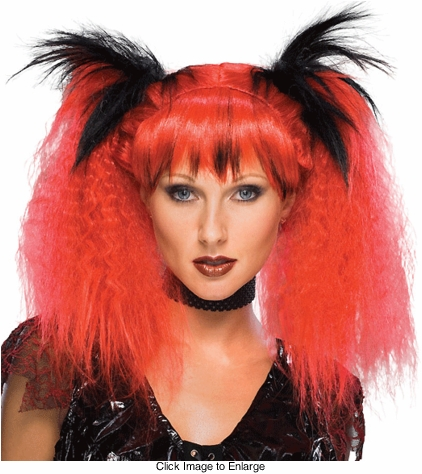 Two Tone Club Kid Wig in Red