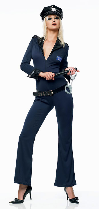 Sexy Police Woman Catsuit Costume
