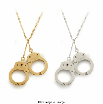 Designer Handcuffs Necklace