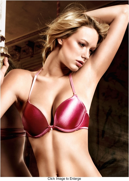 Raspberry Pink Microfiber Four-Way Convertible Bra With Underwire