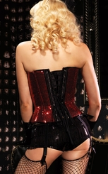 Red Sequin Sadie Corset