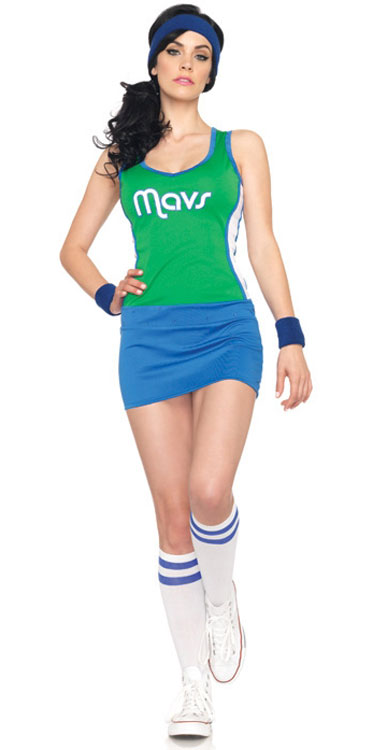 2 Piece Mavericks NBA Jersey Dress Sexy Costume