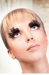 False Eyelashes -Black Feather Glam Lashes