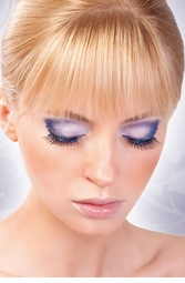 Black Glamorous Lashes with Blue Crystals