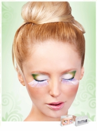 Super Long White Lashes with Silver Holographic Lurex