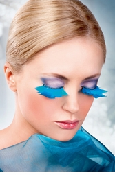 Blue Glam Feather Lashes