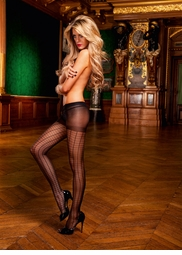 Sheer Cage Pantyhose