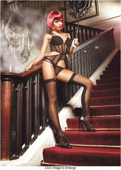 Sheer Front and Opaque Back Stockings