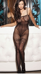 Stretch Retro Lace Bodystocking