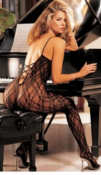 Lace Bodystocking with Criss-Cross Back