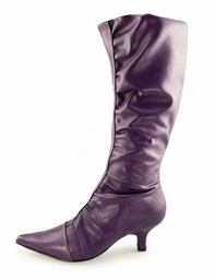 "2"" Pointy Toe Purple Boots"