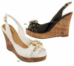 "4"" Wedge Sling Back Sandals"