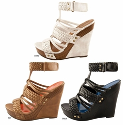 "5"" Braided Top Platform Shoes with 1"" Front Platform ""Hadrian"" from Michael Antonio"