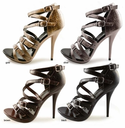 "4.5"" Strappy Sandal Shoes ""Bettina"" from Michael Antonio"