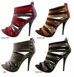 "4.5"" Strappy Shoes with 0.75"" Front Platform from Michael Antonio"