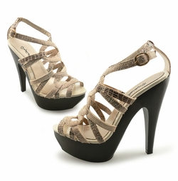 "SALE** 5"" Platform Sandals in Lizard Print"