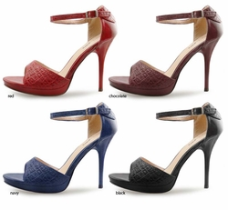 "SALE** 4.15"" Textured Exotic Skin Sandals ""Colleen"" from Michael Antonio"