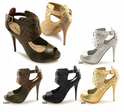 "4.5""  Wide Ankle Strap Shoes ""Kalida"" from Michael Antonio"