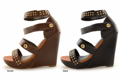 "4.5"" Studded Wedge Shoes ""Hen"" from Michael Antonio"