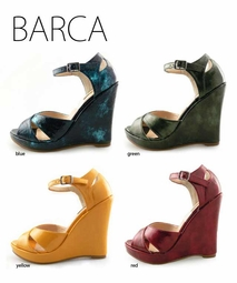 "4.15"" Retro Wedge Shoes ""Barca"" from Michael Antonio"
