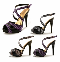 "Animal Print Shoes with 5"" Heel and 1/2"" Front Platform"