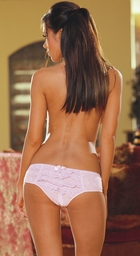 Stretch Lace Low Rise Shorts with Ruffled Back