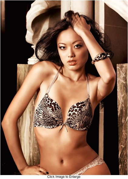 Animal Print Microfiber Four-Way Convertible Bra With Underwire