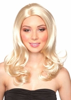 Sultry Shoulder Length Wig with Bouncy Curls