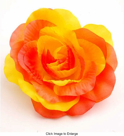 "4"" Rose Flower Hair Clip"