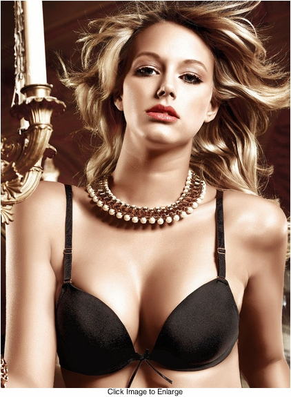 Black Microfiber Four-Way Convertible Bra With Underwire