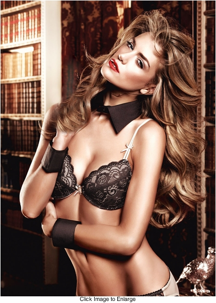 Black and Champagne Flower Lace Bra With Underwire