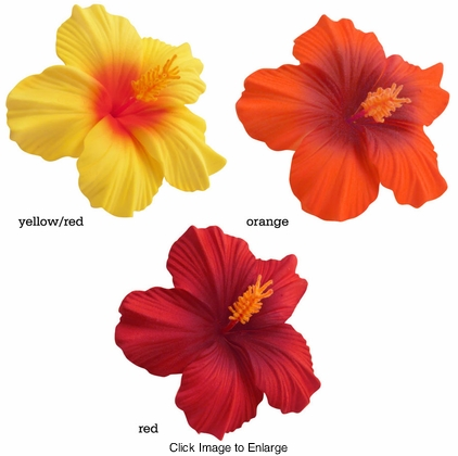 "3.5"" Hibiscus Flower Hair Clips"