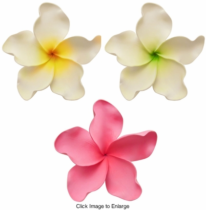 "Huge 7"" Wide Hawaiian Flower Hair Clip"