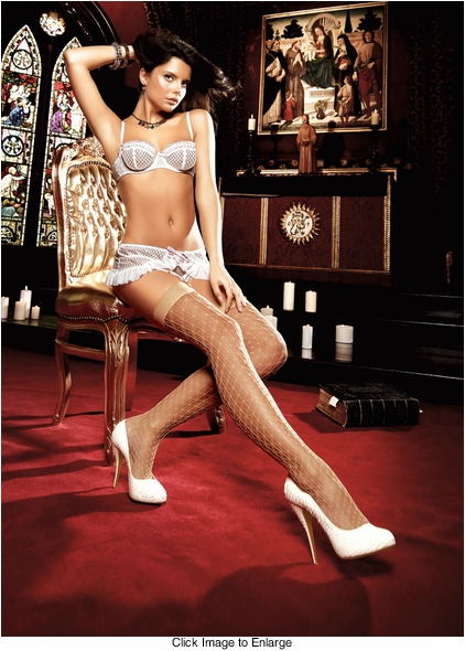 Butterfly Diamond Net Stockings