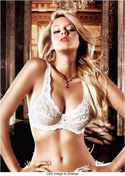 White Lace Demi Bra With Underwire