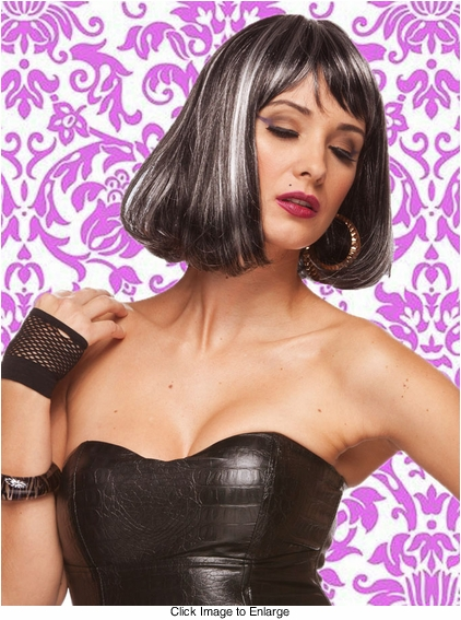 Edgy Page Style Wig in Eclipse