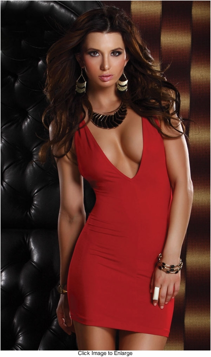 Forplay Red Mini dress with criss cross back straps
