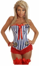 Glam Sailor Corset (available up to size 2X)