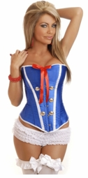 Fantasy Sailor Corset with White Trims