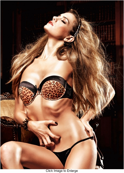 Satin Leopard Convertible Bra With Underwire