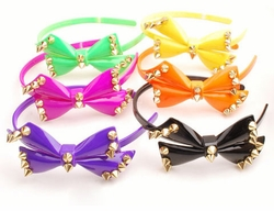 Bow Headband with Spikes